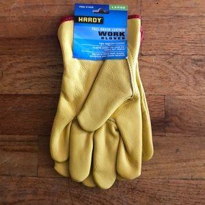 NWT Hardy Full Grain Leather Work Gloves